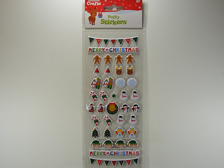 Christmas Crafts - Puffy Stickers.