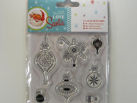 Docrafts - Love Santa 4x4 Clear Stamps Set.