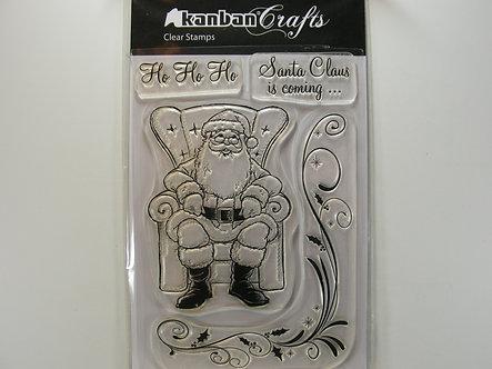 Kanban - Santa Claus Clear Acrylic Stamp Set