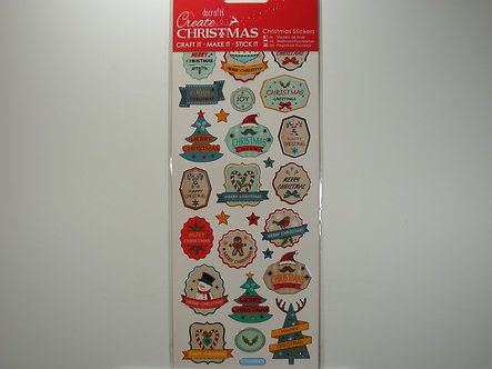 Docrafts - Create Christmas Stickers - Retro Stickers.