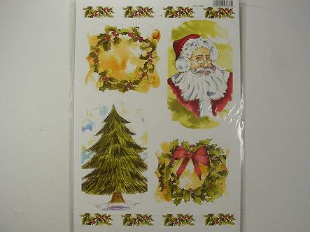 Christmas Craft Toppers - Tree & Santa