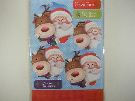 Kanban - Santa And Reindeer Topper