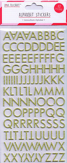 Love To Craft - Alphabet Stickers (Gold).