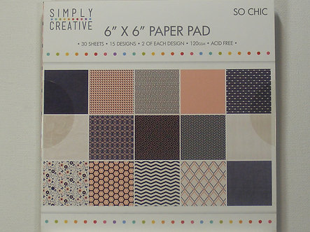 "Simply Creative - So Chic 6"" x 6"" Paper Pad"