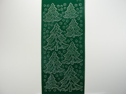 Christmas Peel Offs - Christmas Trees & Snowflakes (Green)
