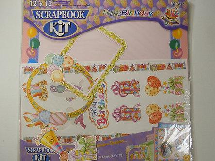 "Clover - 12"" x 12"" Scrapbook Kit - Happy Birthday."
