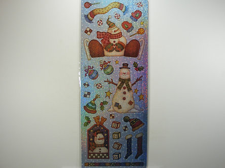 Christmas Holographic Snowman Stickers