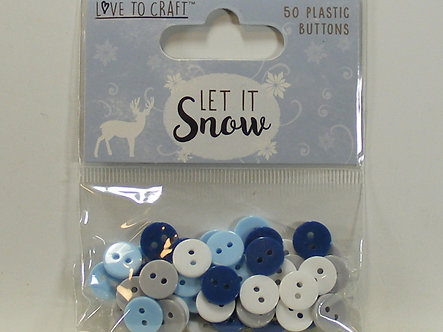 Love To Craft - Let It Snow Plastic Buttons