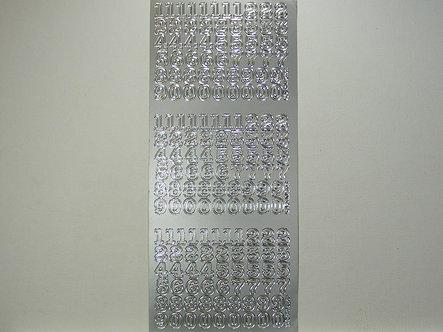 Goldlabel - Number Peel Offs (Silver)