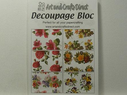 Arts & Crafts Direct - Decoupage Bloc - Floral.