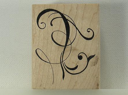 Judikins - Calligraphic Doodle Rubber Stamp