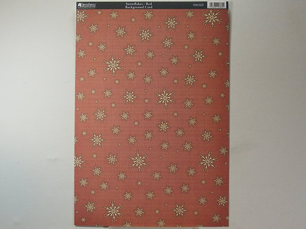 Kanban - Snowflake Red Background Card.
