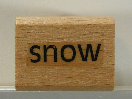 Debbi Moore - Snow Wood Mounted Rubber Stamp
