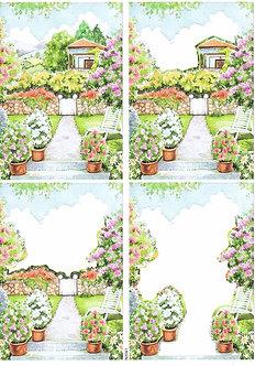 Countryside Decoupage - Cottage Garden Decoupage Sheet