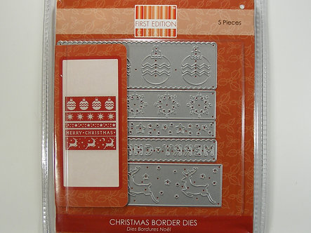 First Edition - Christmas Border Dies.
