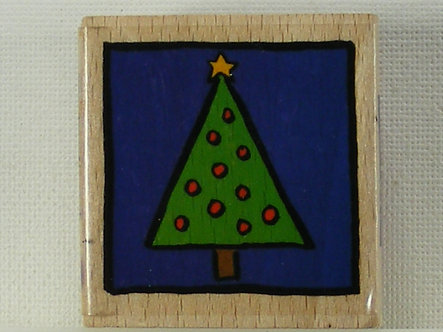 Docrafts - Whisper Christmas Tree Wood Mounted Rubber Stamp