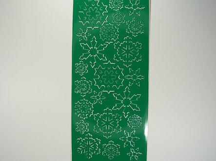 Christmas Peel Offs - Snowflakes (Green)