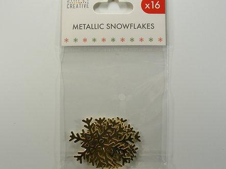 Simply Creative - Metallic Snowflakes (Gold)