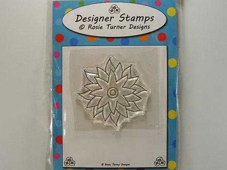Rosie Turner Designs - Pretty Poinsettia Stamp
