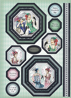 Hunkydory - Decadent Days - A Grand Day Out Topper & Bkg Card