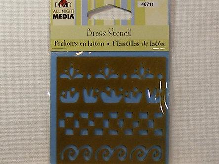 Plaid - Brass Stencil - Perfect Borders