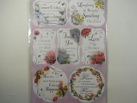 Kanban - Floral Sentiment Labels Topper Sheet