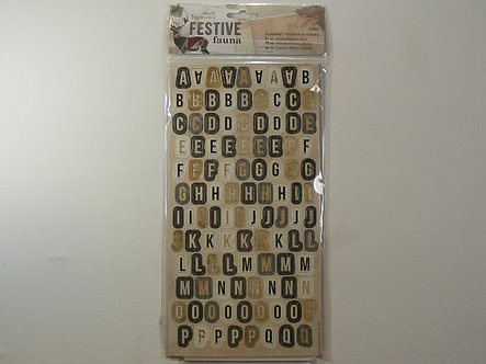 Docrafts - Festive Fauna Alphabet Thicker Stickers.