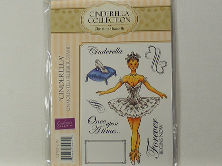Crafters Companion - Cinderella Collection - Cinderella Rubber Stamp