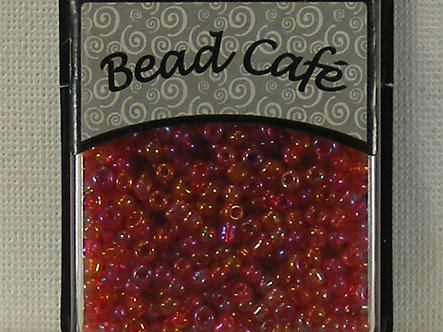 Bead Cafe - Red 3mm Glass Seed Beads.