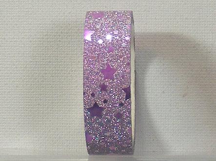 Craft Washi Tape - Lilac Star Design.