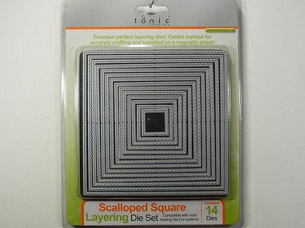 Tonic Studios - Scalloped Square Layering Die Set