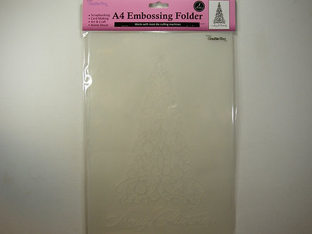 Crafts-Too - Merry Christmas A4 Embossing Folder