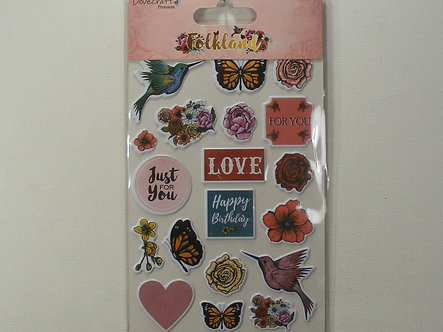 Dovecraft - Folkland - Puffy Stickers