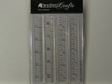 Kanban - Measurements Clear Acrylic Stamps