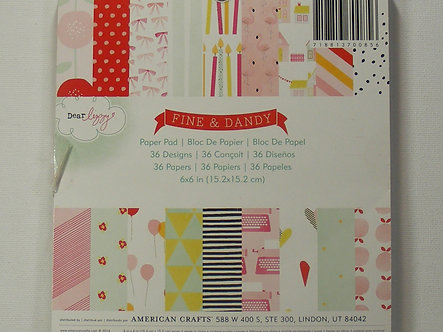 "American Crafts - Dear Lizzy - Fine & Dandy 6"" x 6"" Paper Pad"