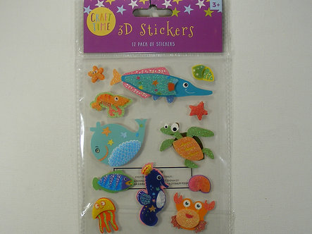 Craft Time - 3D Stickers Sea Creatures