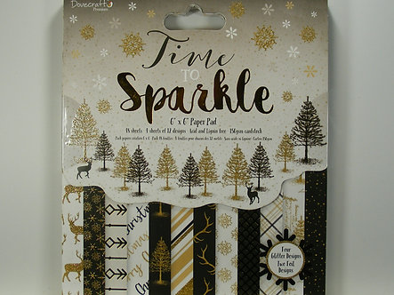 """Dovecraft - Time To Sparkle 6"""" x 6"""" Paper Pad"""