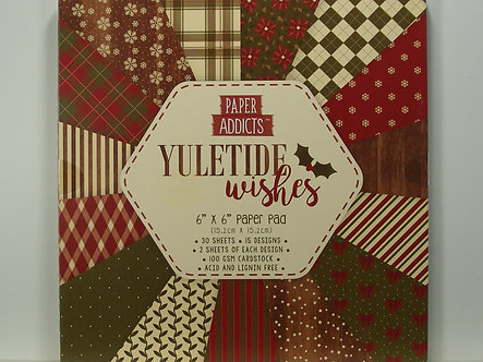 "Paper Addicts - Yuletide Wishes 6"" x 6"" Pad"