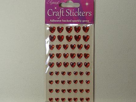 Eleganza - Craft Stickers Red Hearts