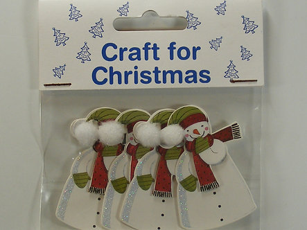 Craft For Christmas - Snowman Toppers (4pk)