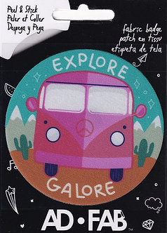 Camper Van Ad Fab Adhesive Fabric Patch