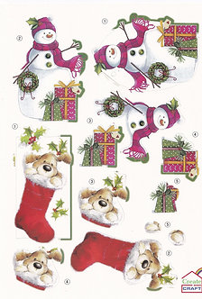 Create & Craft - A4 Christmas Decoupage Sheet