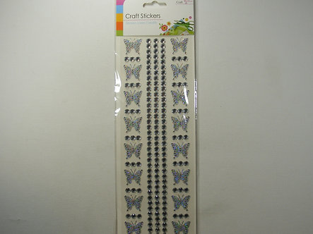 Craft - Butterfly Stickers (Silver)
