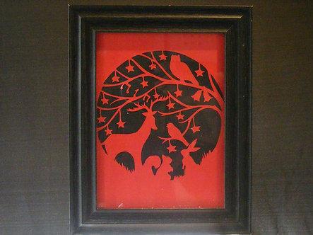 Woodland Silhouette Papercut