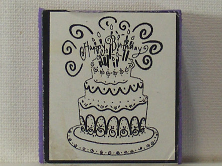 Unbranded - Happy Birthday Cake Foam Mounted Rubber Stamp