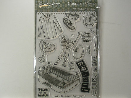 Hunkydory - The Rules Of The Game Acrylic Stamp Set