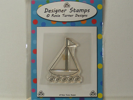 Rosie Turner Designs - Sailing Boat Clear Acrylic Stamp