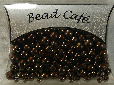 Bead Cafe - Brown Pearl Beads (28gms)