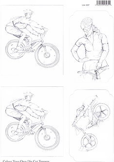 Colour Your Own Topper Sheet - Cycling