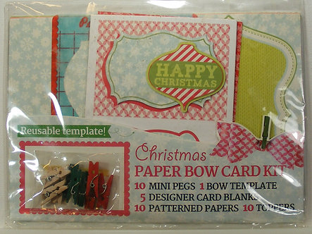 Papercraft Inspirations - Christmas Paper Bow Card Kit